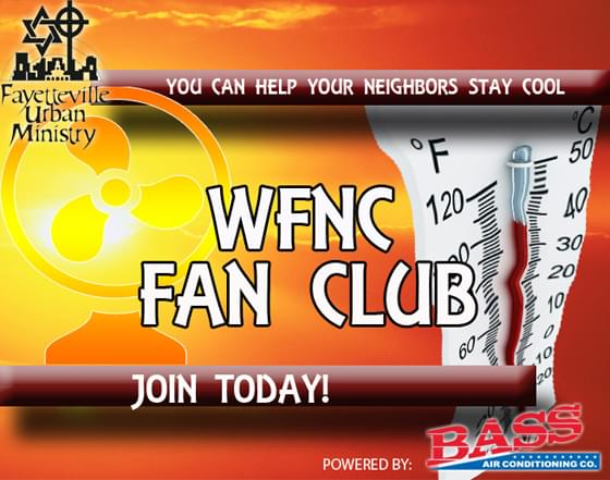 We know the temps can skyrocket in the summer time.... so we are asking for your help to help others! We've teamed up with Bass Air Conditioning Co. to gather fans! Box fans, stand up fans, etc.    These will be distributed in our community by Fayetteville Urban Ministry!  Fans can be dropped off at  Fayetteville Urban Ministry  701 Whitfield St.  Fayetteville, NC 28306  Or have them delivered with Amazon, Walmart, etc.!