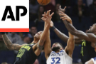 Towns' Franchise-Record 56 Lead Wolves Over Hawks 126-114