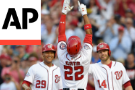 LEADING OFF: Soto swings away, Harvey's home debut with Reds