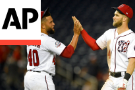Harper Homers, Nationals Outlast Braves And Rain In 6-2 Win