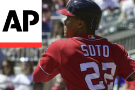 Soto youngest to steal 3 bases, Nats beat hit Braves 7-1