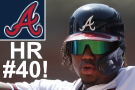 Acuña hits 40th HR, Braves clinch tie for first in NL East