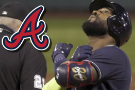Ozuna hits 3 HRs in Braves' 10-3 rout of Red Sox