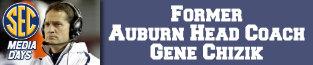 auburn, gene chizik, sec football, sec media days,