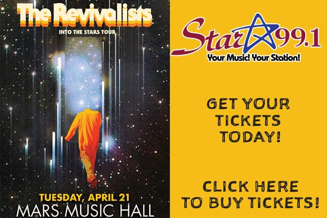 Pair of tickets to The Revivalists at Mars Music Hall on April 21