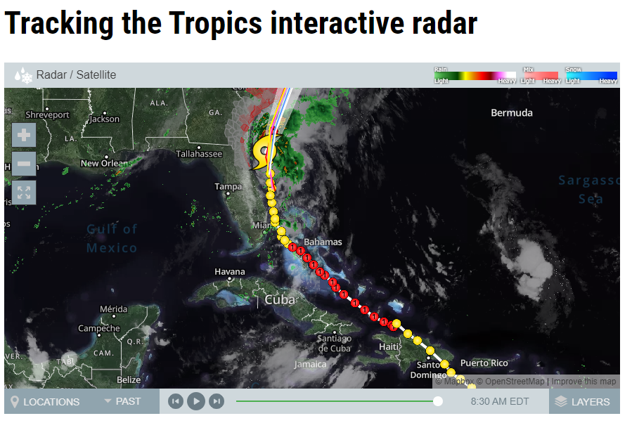 Tracking Isiaias:   Click for the latest updates.