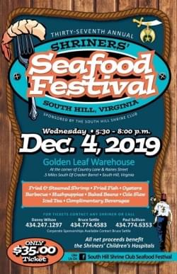 Thirty Seventh Annual Shriner's Seafood Festival
