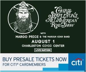 Chris Stapleton @ Charleston Civic Center Aug. 1st, 2019