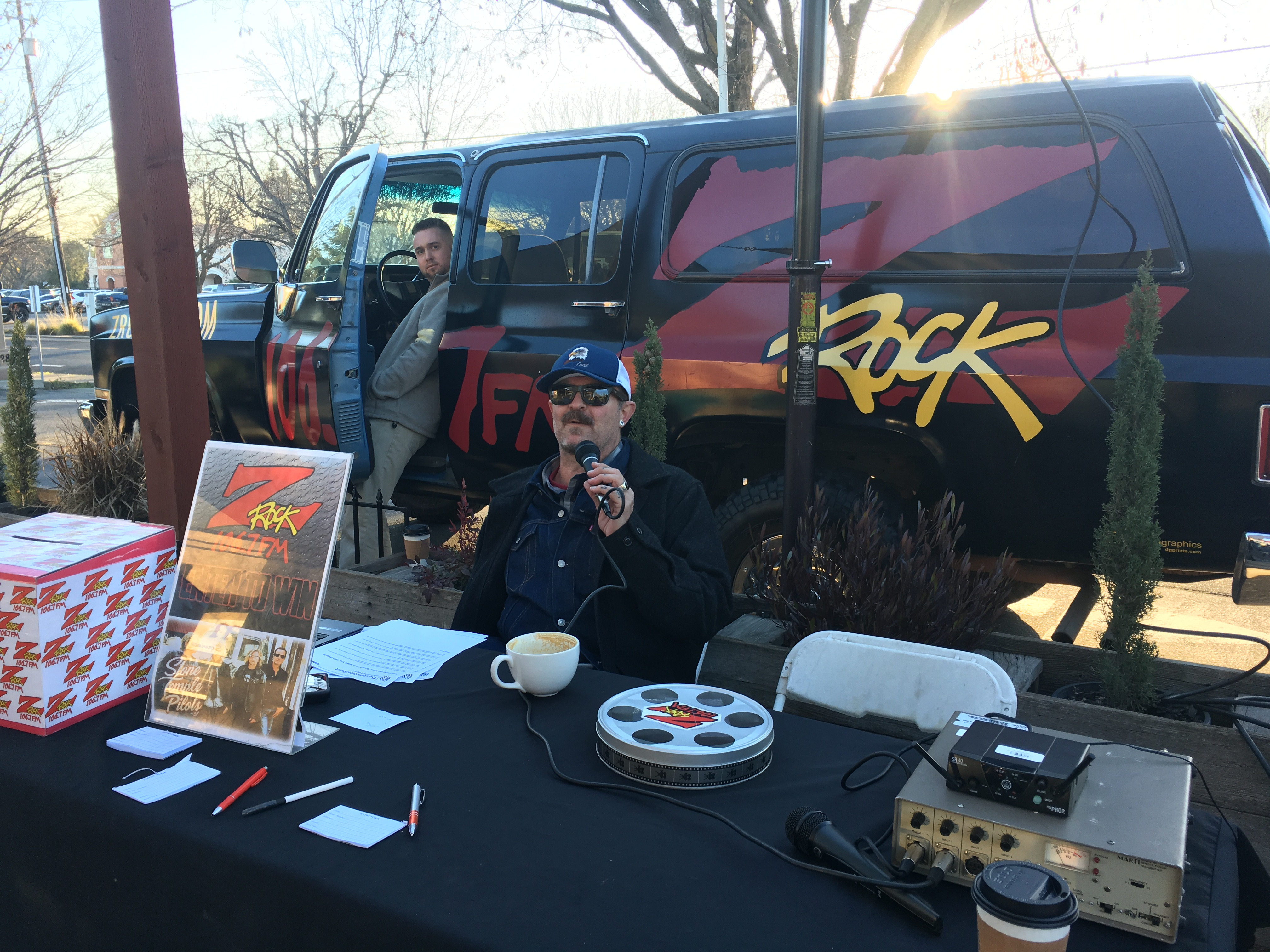 Tim Buc Moore live on 106.7 Z-Rock during Wake the Buc Up at Coffee Ranch in Chico
