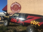 106.7 Z-Rock sets up shop for Wake the Buc Up in Oroville at Mugshots Coffee House