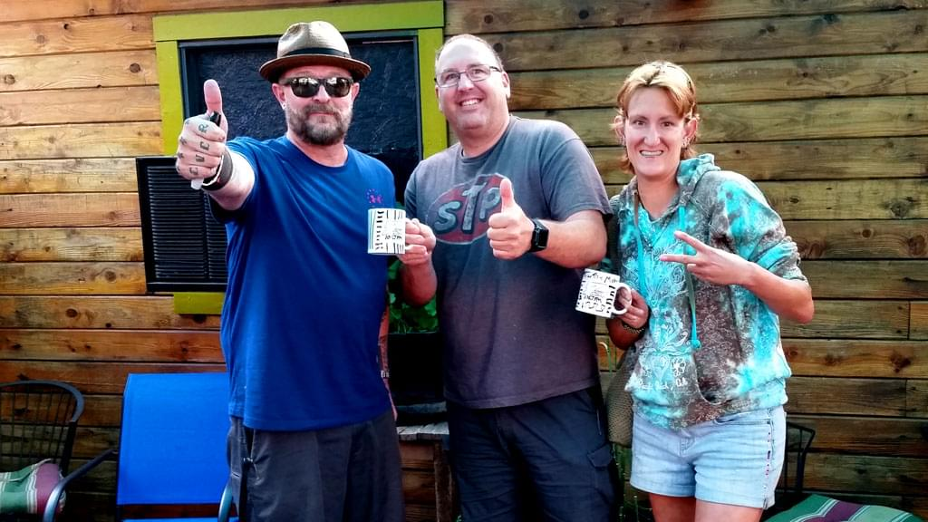 Tim Buc Moore's live morning show tour of Butte County, Wake the Buc Up with listeners at Juice and Java in Paradise August 9th 2018
