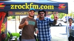 Tim Buc Moore with a listener at Jeff's California Cattle Company in Redding for Wake the Buc Up on August 23rd 2018