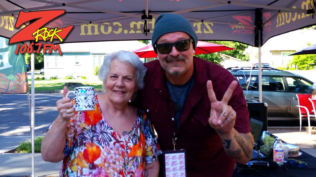 Tim Buc Moore with a Buc-head at Wake the Buc Up in Chico. 15th Street Cafe June 6th 2019