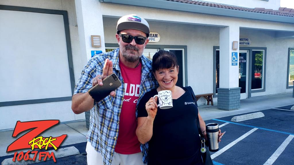 Tim Buc Moore with a Buc-head at I-5 Cafe & Creamery in Orland for Wake the Buc Up on 106.7 Z-Rock, Thursday October 1st 2019