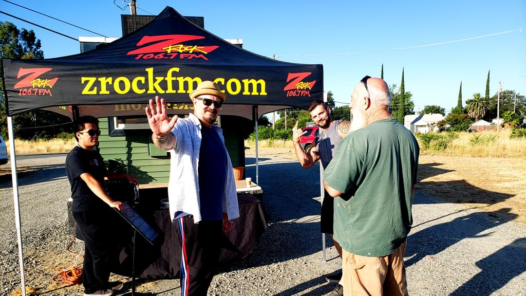 Tim Buc Moore with Z-Rockers at Coffee Cafe in Proberta CA for Wake the Buc Up on 106.7 Z-Rock August 8th 2019
