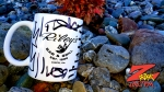 """An infamous custimized Z-Rock """"Doodle"""" Mug at Code 3 Coffee in North Chico for Wake the Buc Up on 106.7 Z-Rock 8/15/19"""