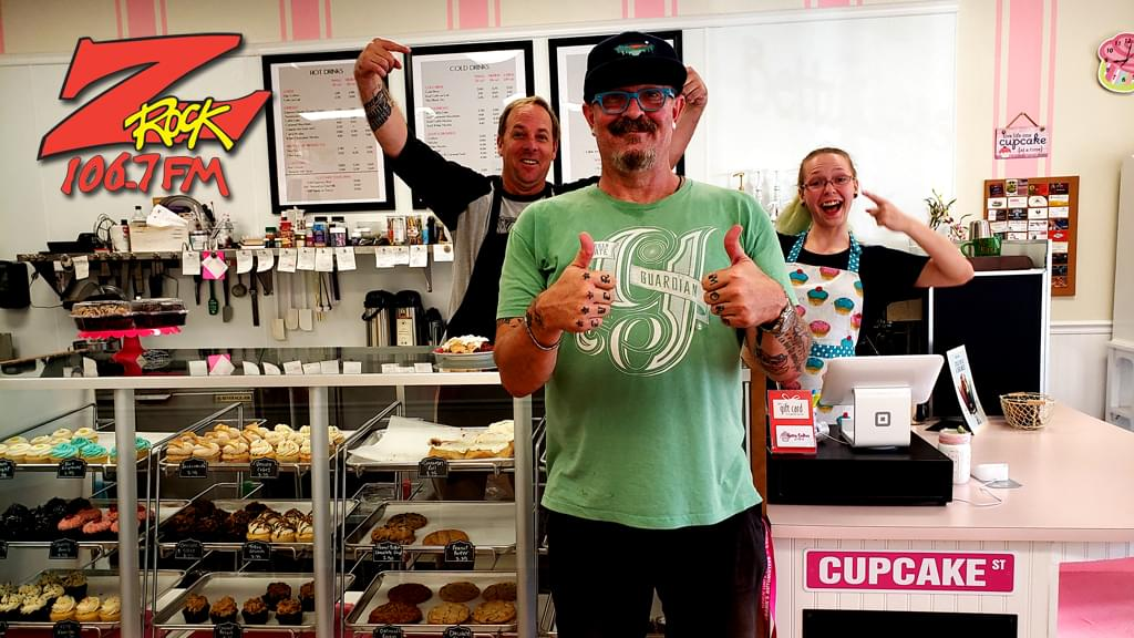 Tim Buc Moore with Buc Heads at Betty Cakes & Coffee for Wake the Buc Up 2019 on August 22nd with 106.7 Z-Rock