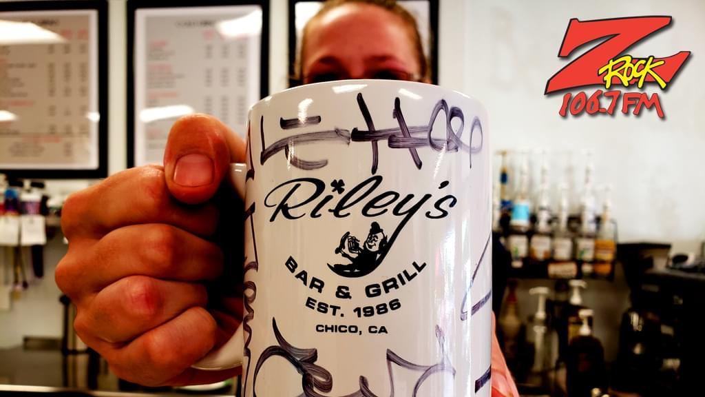 Z-Rock mug customized with Tim Buc Moore's doodles at Betty Cakes & Coffee for Wake the Buc Up 2019