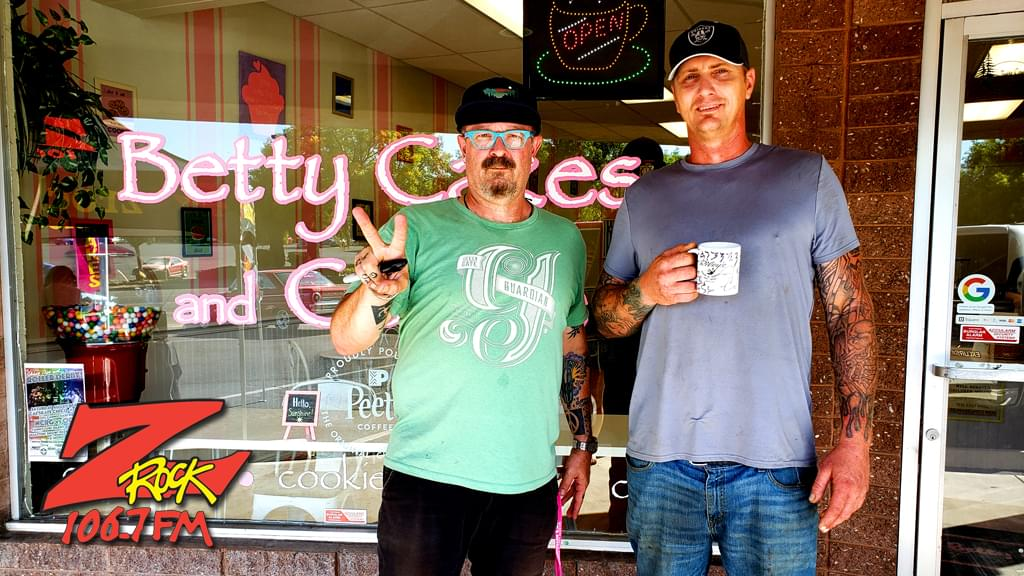 Tim Buc Moore with a Buc Head at Betty Cakes & Coffee for Wake the Buc Up 2019 on August 22nd with 106.7 Z-Rock