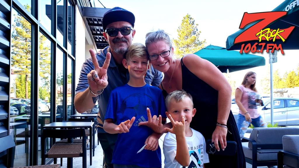 Tim Buc Moore with Buc Heads at Paradise Starbucks for Wake the Buc Up on 106.7 Z-Rock August 29th 2019