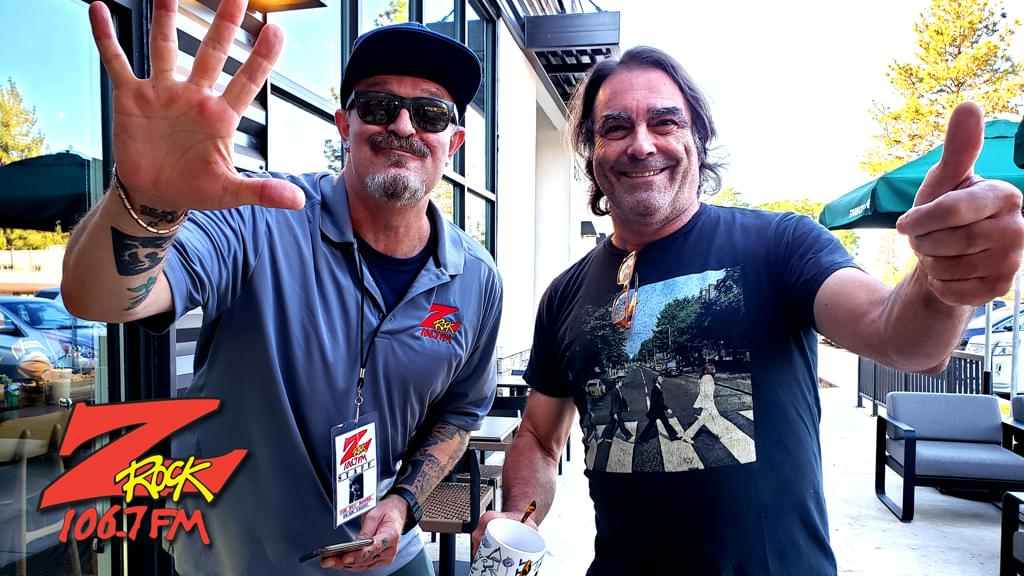 Tim Buc Moore with a Buc Head at Paradise Starbucks for Wake the Buc Up on 106.7 Z-Rock August 29th 2019