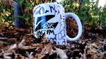 Z-Rock Mug customized with Tim Buc Moore's doodles at Wake the Buc Up in Paradise for 106.7 Z-Rock