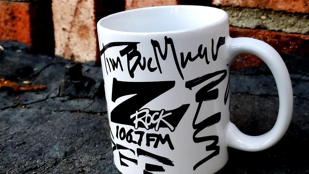 A Z-Rock doodle mug customized by Tim Buc Moore at Lots' A Java for Wake the Buc Up October 3rd 2019