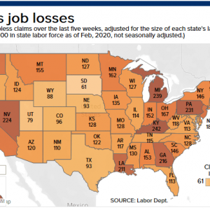These are the states getting hit the hardest with job losses from the coronavirus pandemic