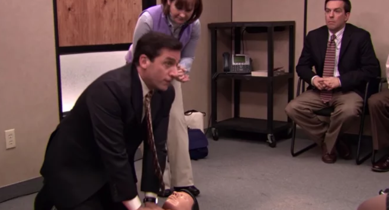 Man Saves Woman Using CPR That He Learned From An Episode Of The Office!