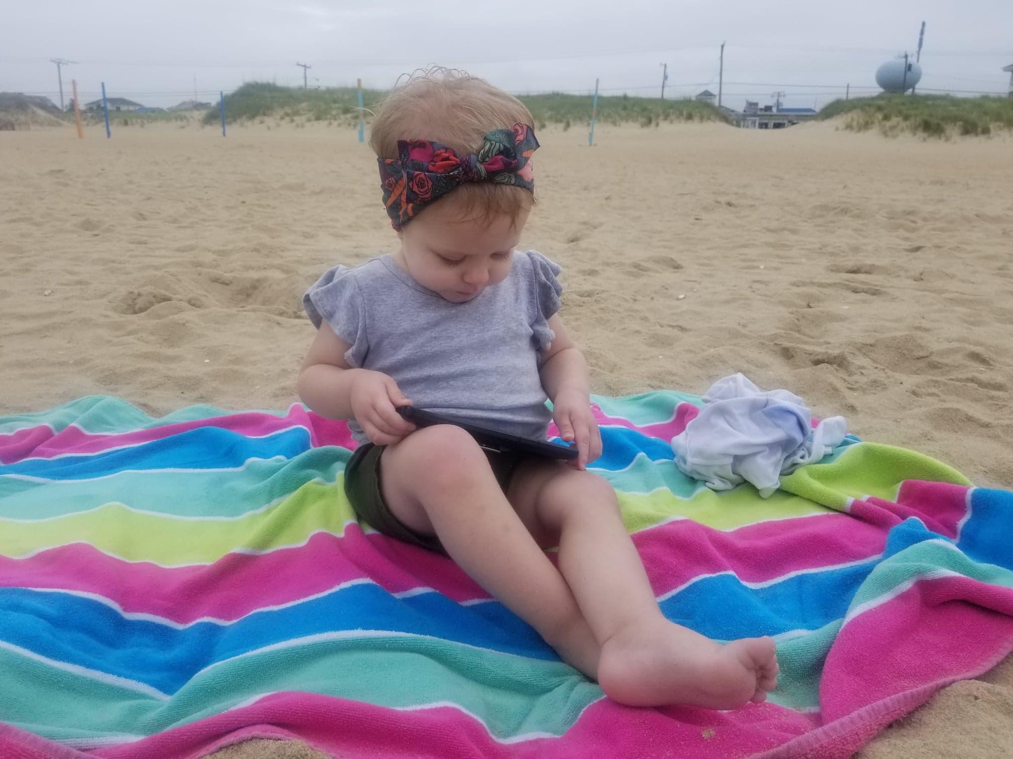 emma at the beach