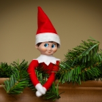 Tinsel, Our Elf On A Shelf, Has an Interesting Sense of Humor. ~ CASH {Pic}