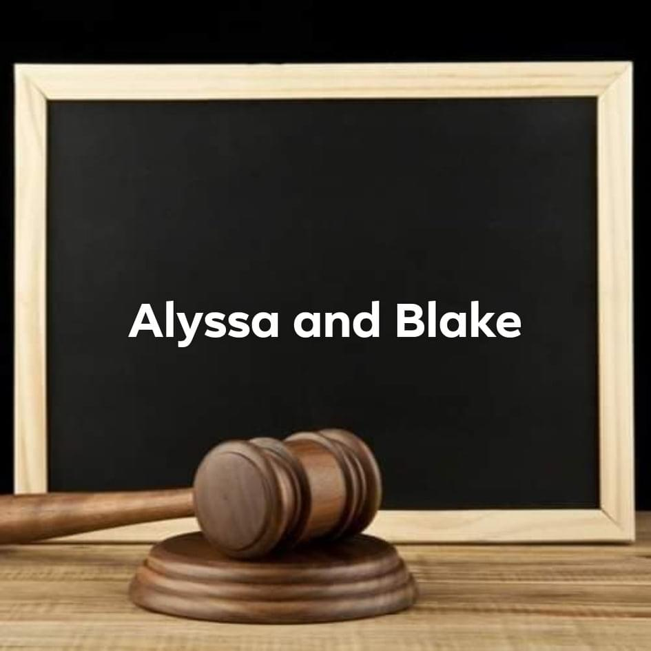 Alyssa and Blake