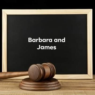 Barbara and James