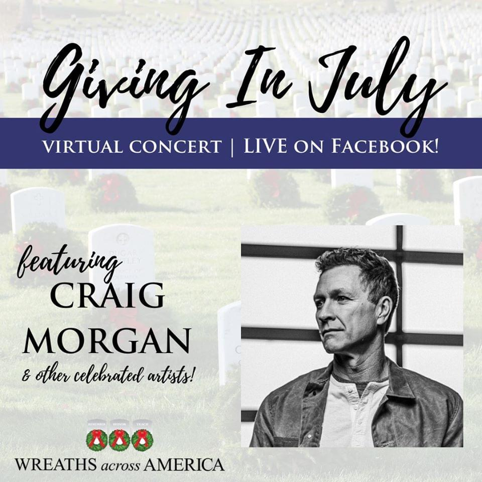 Craig Morgan, Darryl Worley and More To Honor Veterans During Wreaths Across America LIVE Virtual Concert