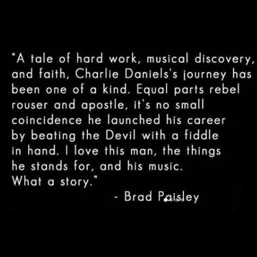 Charlie Daniels Brad Paisley 500
