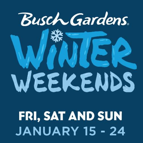Busch Gardens Winter Weekends