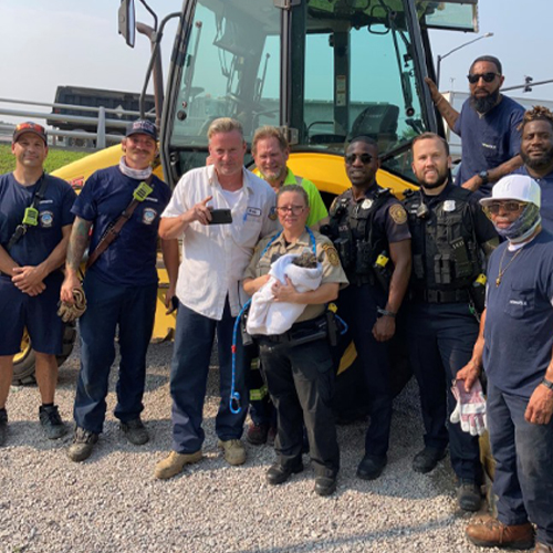 Norfolk City Employees Come Together to Rescue Puppy From Drain Pipe {PICS}