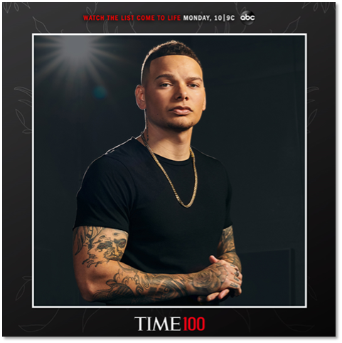 Kane Brown Named One of Time's '100 Most Influential People'