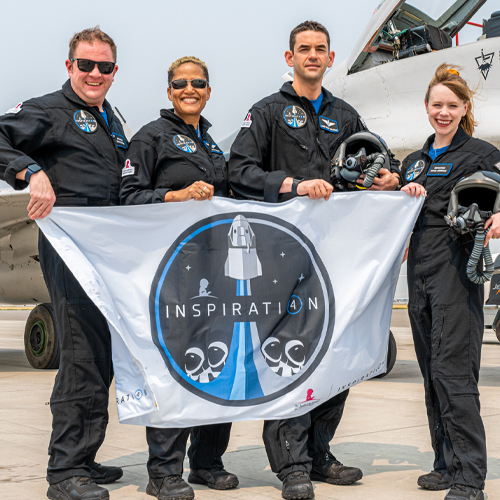 Former St. Jude Patient Among Crew Aboard SpaceX's First All-Civilian Launch {WATCH}