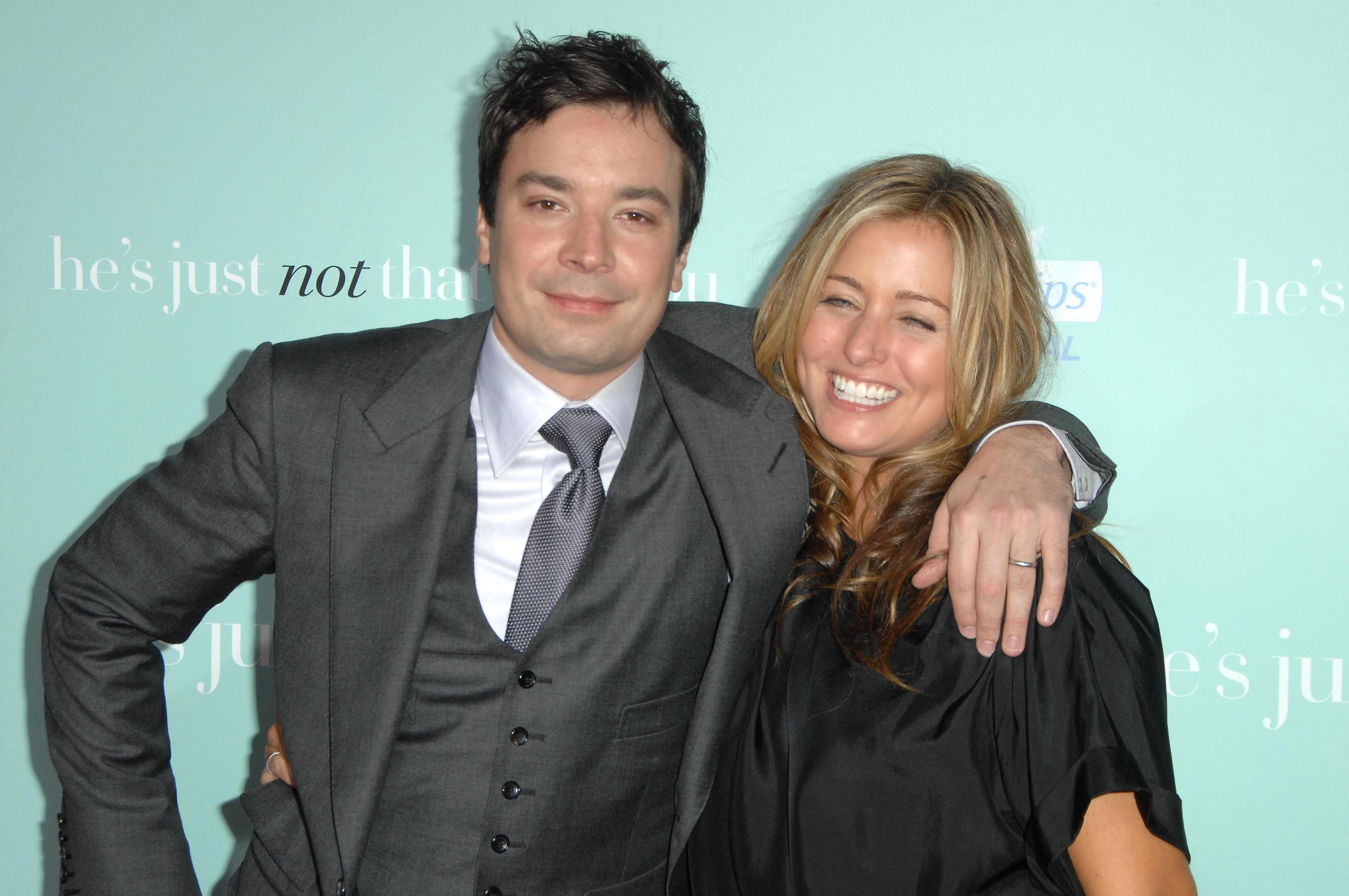 """Jimmy Fallon Jokes That He & His Wife """"Actually Like Each Other"""" During Self-Isolation"""