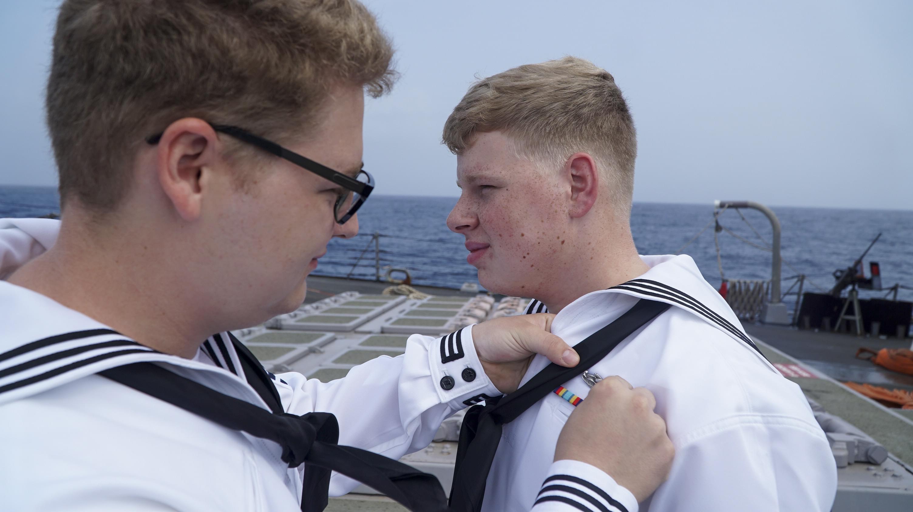 Virginia Beach Native Receives Surface Warfare Specialist Insignia Aboard USS James E. Williams