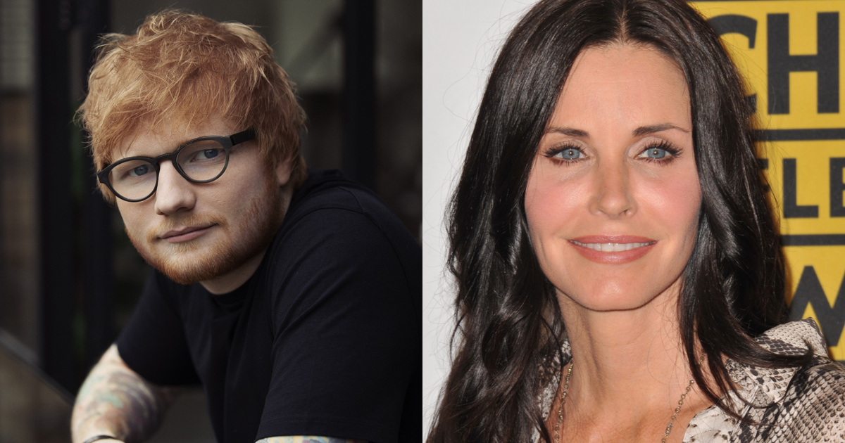 Courteney Cox and Ed Sheeran Hilariously Recreate Ross and Monica's Dance Routine from FRIENDS {WATCH}