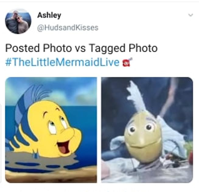 The Best Twitter Reactions To The Creepy Flounder Puppet On 'The Little Mermaid Live'