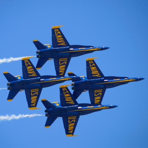 Take a Virtual Ride with the Blue Angels and Learn the the Double Farvel Maneuver