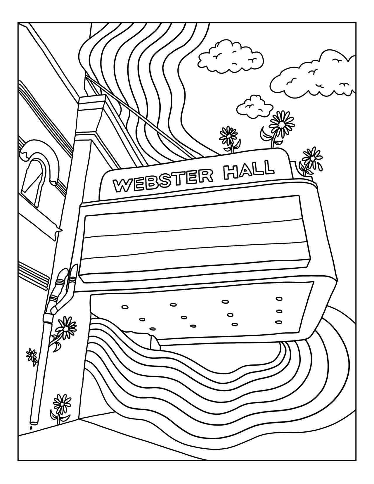 Free Coloring Pages of the Bowery Ballroom