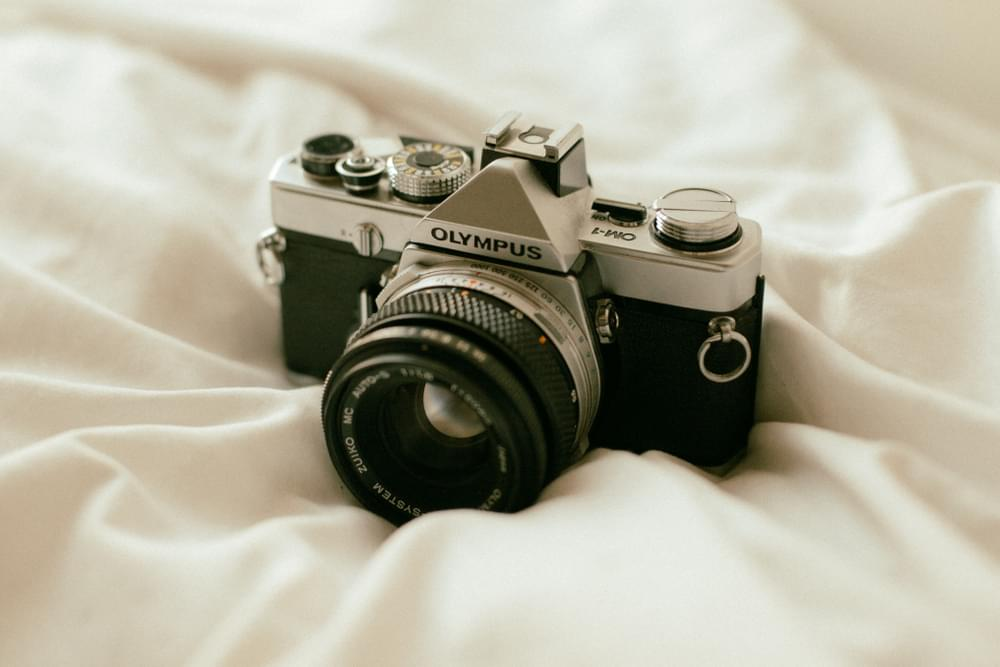 Camera on bed