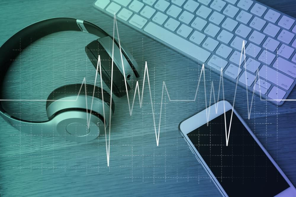 Music Headphones Desk
