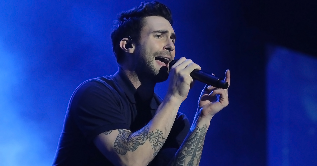 Adam Levine Unveils 'Lord Of The Rings'-Inspired Silver Hair