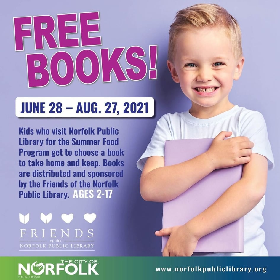Kids Get a Free Book and Lunch From the Norfolk Public Library All Summer