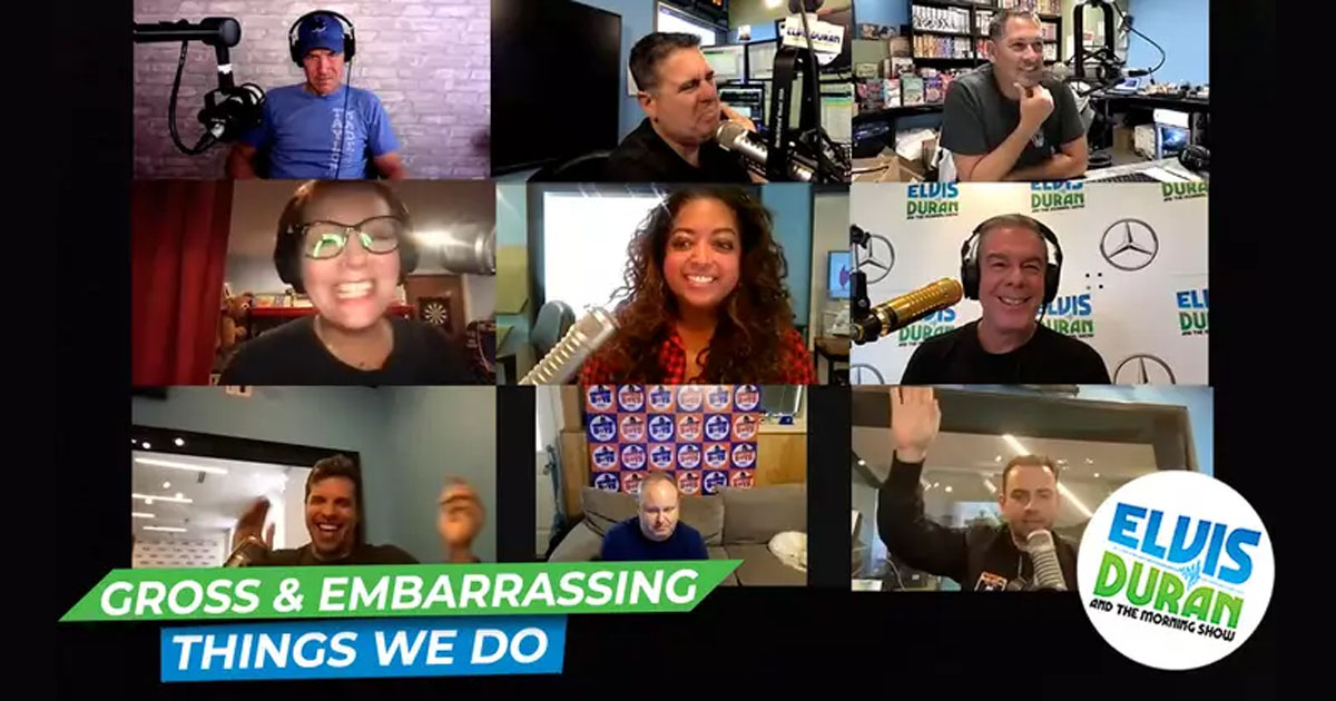 The Incredibly Gross And Embarrassing Things We Do   Elvis Duran 15 Minute Morning Show